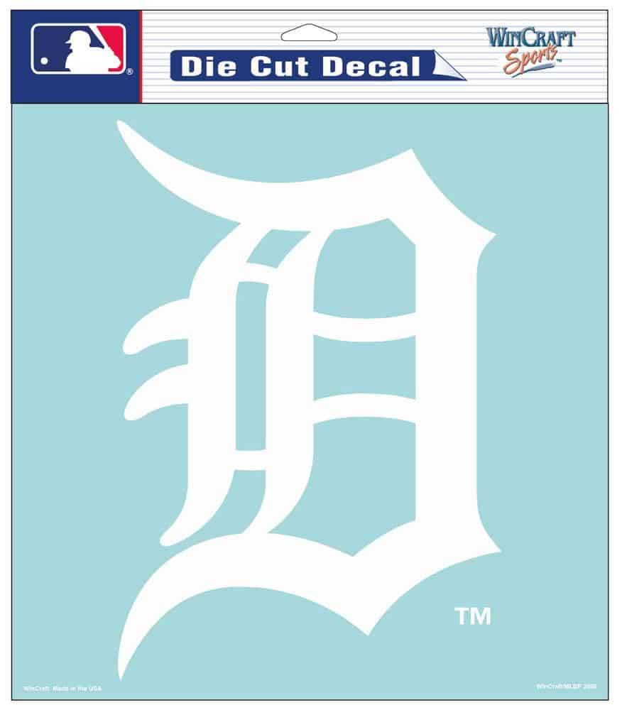 "Detroit Tigers Die-Cut Decal - 8""x8"" White"