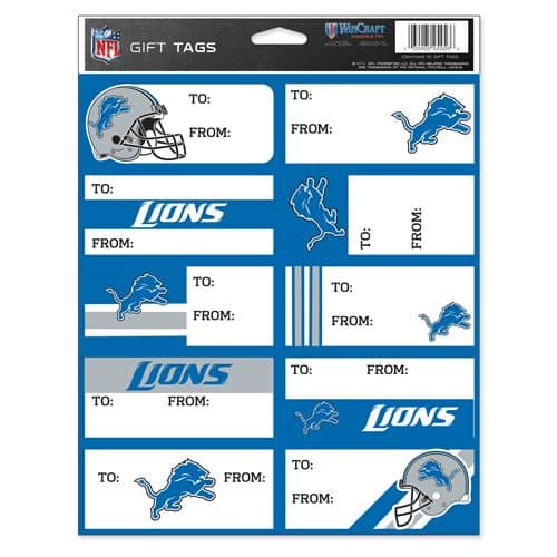 Detroit Lions NFL Gift Tags