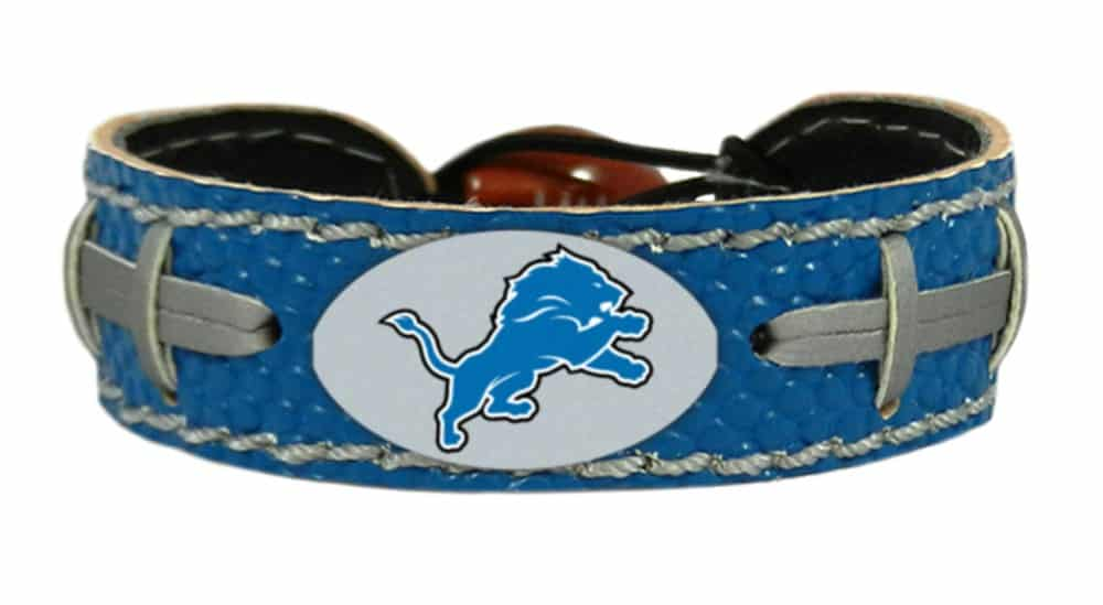 Detroit Lions NFL Team Color Football Bracelet