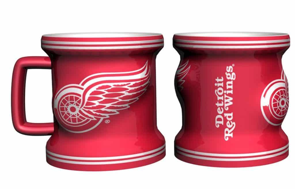 Detroit Red Wings NHL Sculpted Mini Mug Shot Glass