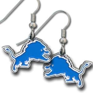 Detroit Lions NFL Dangle Earrings