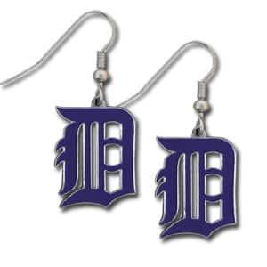 Detroit Tigers Navy Dangle Earrings