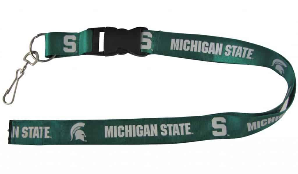Michigan State Spartans NCAA Breakaway Lanyard with Key Ring