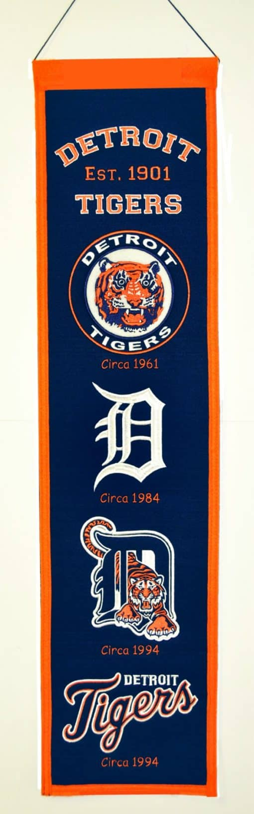 Detroit Tigers MLB Wool 8″x32″ Heritage Banner