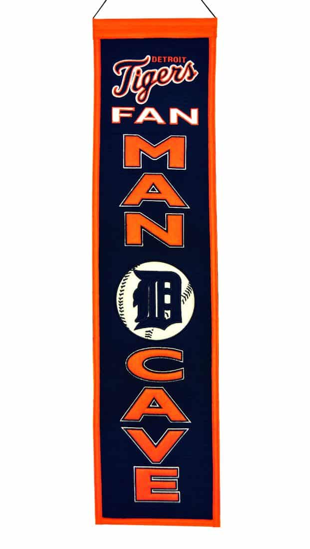 Detroit Tigers MLB Wool Man Cave Banner