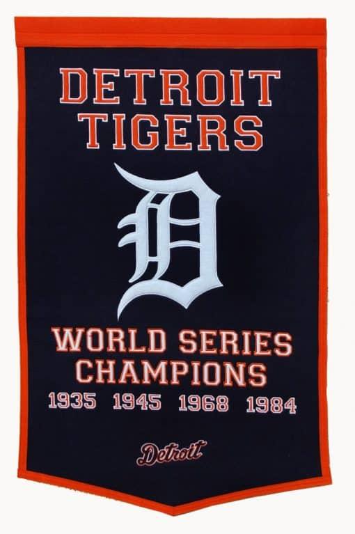 Detroit Tigers MLB 24″x36″ Wool Dynasty Banner