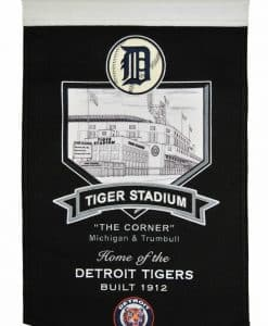 Detroit Tigers MLB Wool Stadium Banner – Tiger Stadium