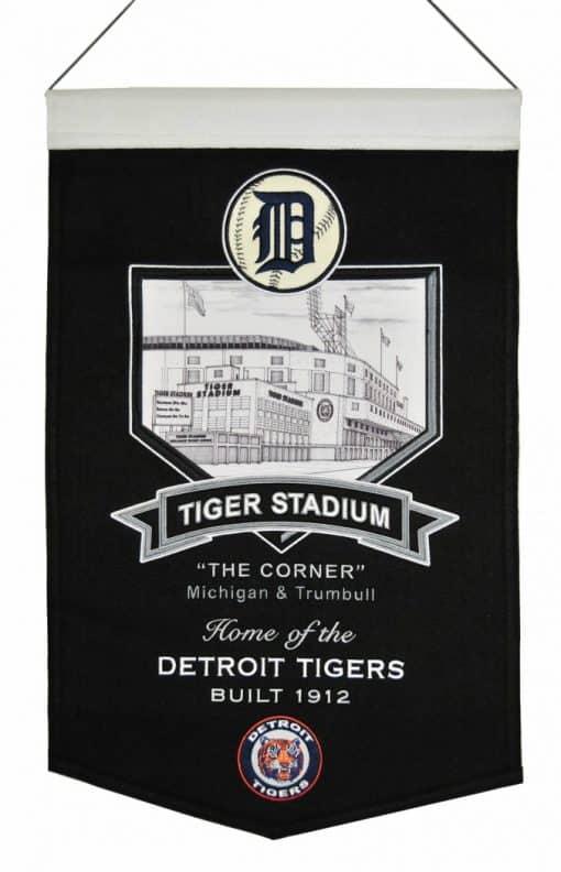 Detroit Tigers MLB Wool Stadium Banner – Tiger Stadium