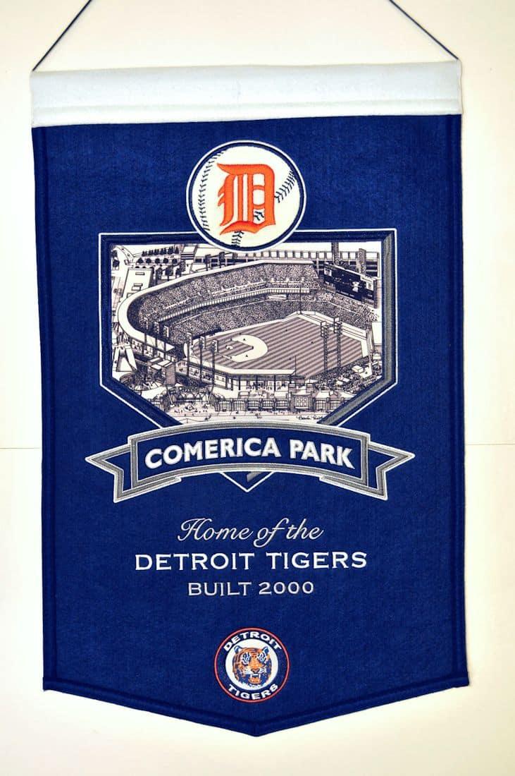 Detroit Tigers MLB Wool Stadium Banner – Comerica Park