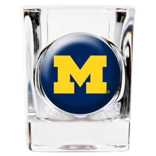 Michigan Wolverines NCAA Square Shot Glass - 2 oz.