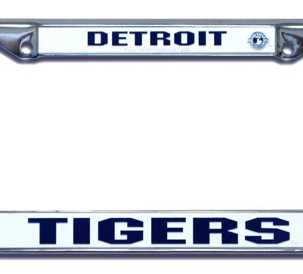 Detroit Tigers Mlb Chrome License Plate Frame Detroit