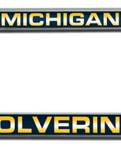 Michigan Wolverines NCAA Laser Cut Chrome License Plate Frame