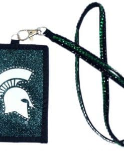 Michigan State Spartans Beaded Lanyard Wallet