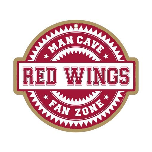 Man Cave Signs Nhl : Detroit red wings nhl man cave fan zone wood sign