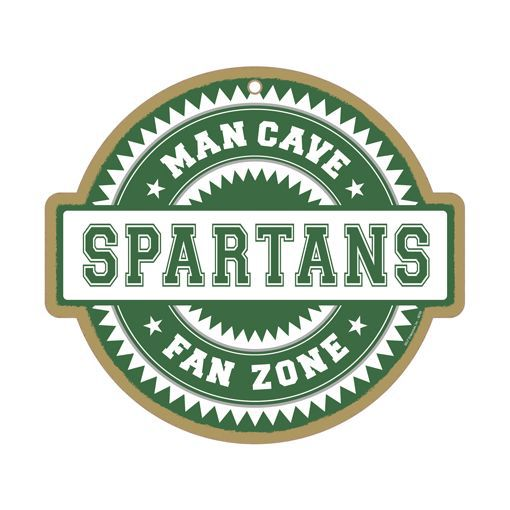 Michigan Man Cave Signs : Michigan state spartans ncaa man cave fan zone wood sign