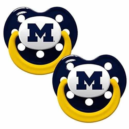 Michigan Wolverines Pacifier 2 Pack