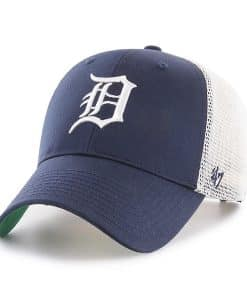 Detroit Tigers 47 Brand Navy Branson MVP Mesh Adjustable Hat