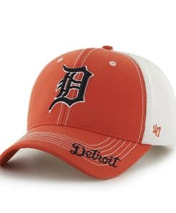 Detroit Tigers 47 Brand Orange Flux Adjustable Hat