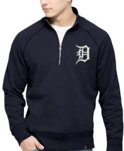 Detroit Tigers 47 Brand Men's Cross Check 14 Zip Pullover