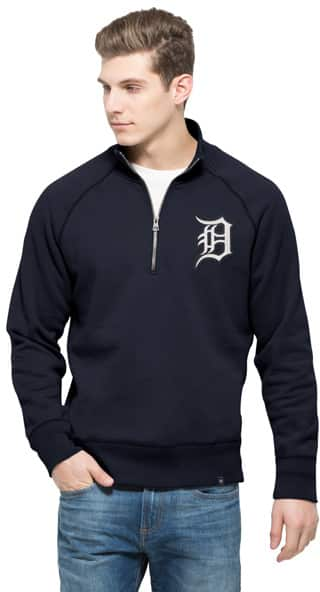 Detroit Tigers 47 Brand Men's Navy 1/4 Zip Pullover