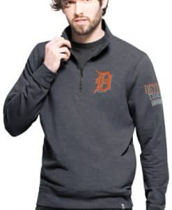 Detroit Tigers 47 Brand Men's Peak 14 Zip Pullover