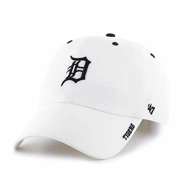 Detroit Tigers 47 Brand White Ice Clean Up Adjustable Hat
