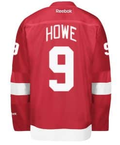 Howe Detroit Red Wings Men's Reebok Premier Home Jersey