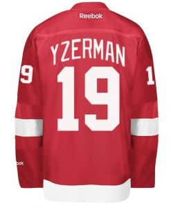 Yzerman Men's Detroit Red Wings Reebok Premier Home Jersey