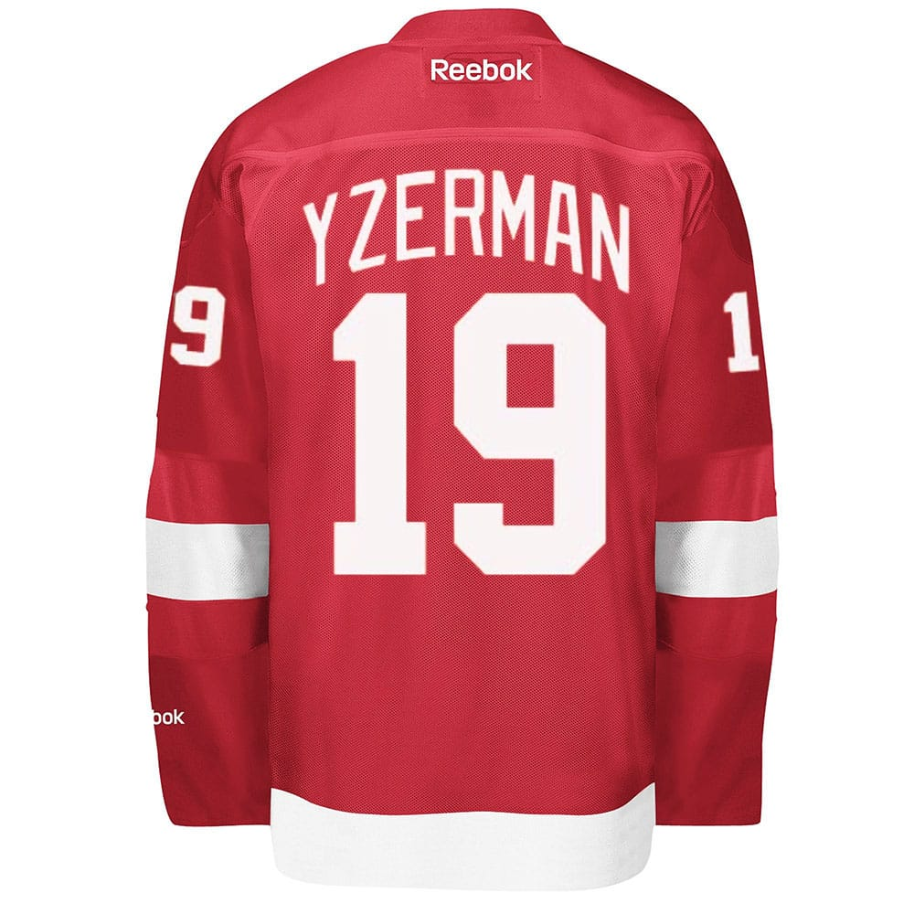 Yzerman Detroit Red Wings Reebok Home Jersey