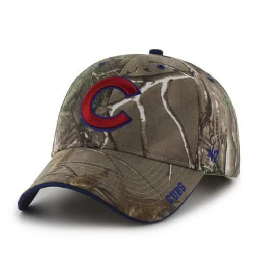 Chicago Cubs 47 Brand Realtree Camo Frost Adjustable Hat