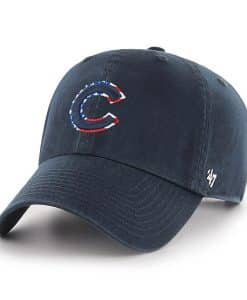 Chicago Cubs Red White & Blue 47 Brand Navy Clean Up Adjustable Hat