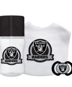 Las Vegas Raiders Black White Baby Gift Set 3 Piece
