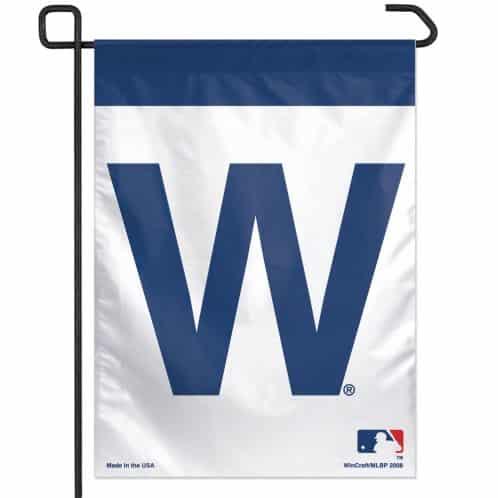 "Chicago Cubs 11""x15"" Garden Flag - ""W"" Flag"