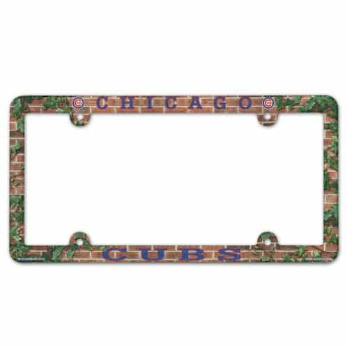 Chicago Cubs License Plate Frame - Full Color - Detroit Game Gear