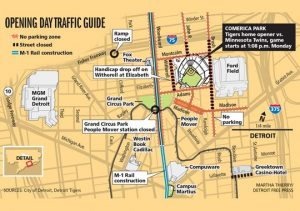 Detroit Tigers Opening Day 2015 Traffic Guide