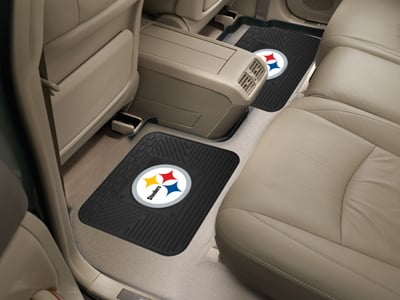 Pittsburgh steelers backseat utility mats 2 pack detroit for Floor 2 pittsburgh