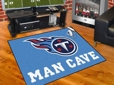 "Tennessee Titans Man Cave All-Star Rug 34""x45"""
