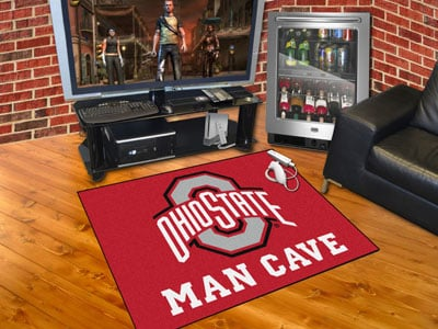 "Ohio State University Man Cave All-Star Rug 34""x45"""