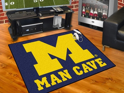 "University of Michigan Man Cave All-Star Rug 34""x45"""