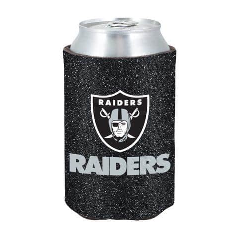 Oakland Raiders Glitter Kolder Kaddy Can Holder