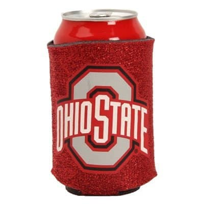 Ohio State Buckeyes Can Holder - Glitter
