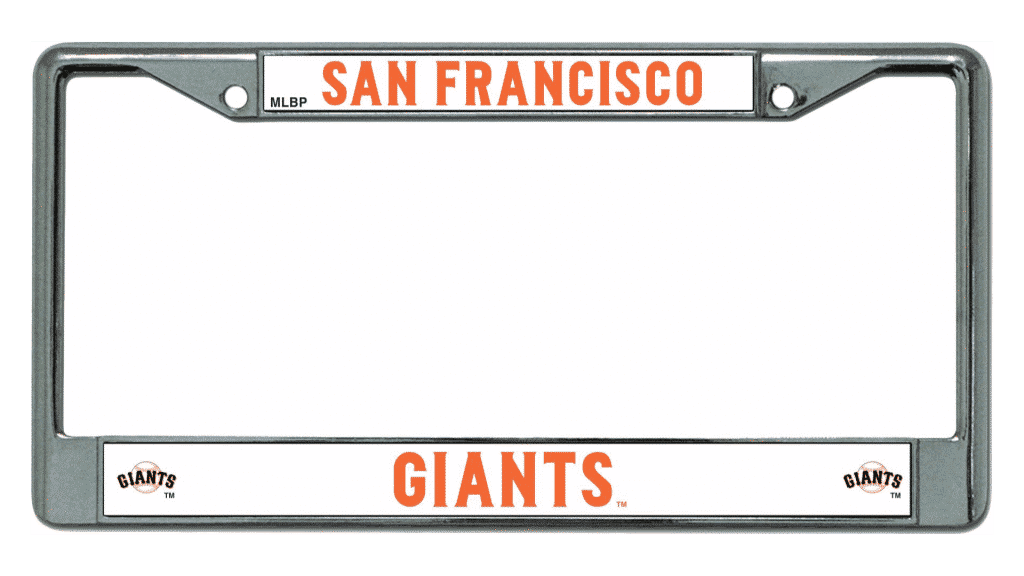 Sf Giants License Plate Frame - Best Plate 2018