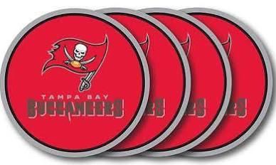 Tampa Bay Buccaneers Coaster Set - 4 Pack