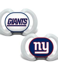 New York Giants White Pacifiers - 2 Pack