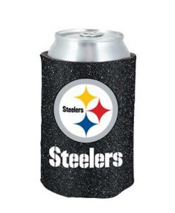 Pittsburgh Steelers Glitter Black Kolder Kaddy Can Holder