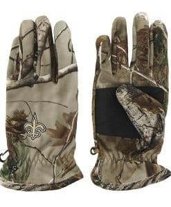 New Orleans Saints Men's 47 Brand Realtree Camo Fleece Gloves