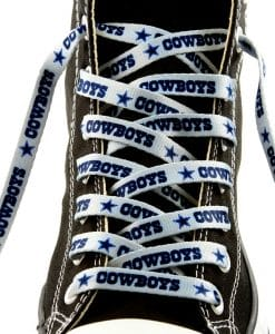 "Dallas Cowboys Shoe Laces - 54"" Silver"