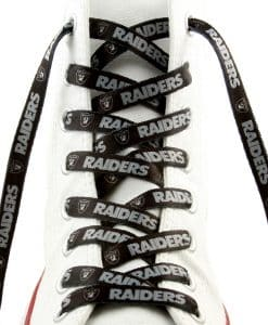 "Oakland Raiders Shoe Laces - 54"" Black"