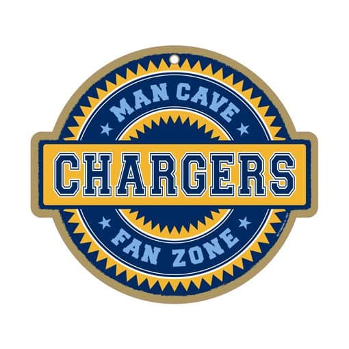 San Diego Chargers Chair: San Diego Chargers Man Cave Fan Zone Wood Sign