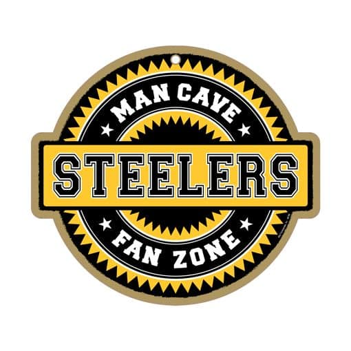 Steelers Man Cave Signs : Pittsburgh steelers man cave fan zone wood sign detroit